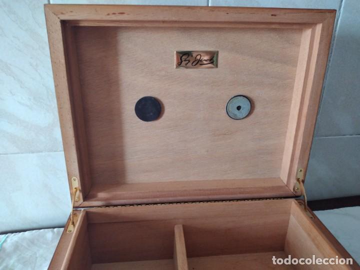Cajas de Puros: humidificador de puros guy janot, madera de raíz . - Foto 6 - 284443863