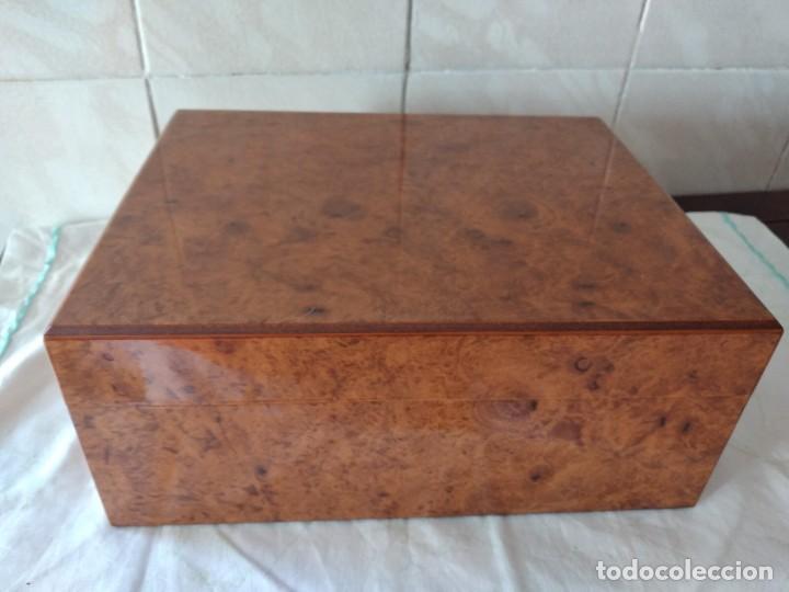 Cajas de Puros: humidificador de puros guy janot, madera de raíz . - Foto 9 - 284443863