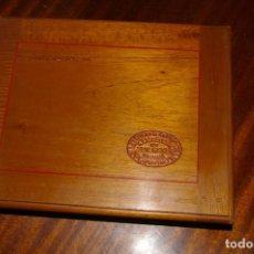 Cajas de Puros: ANTIGUA CAJA VACIA GENER ESPECIALES LA ESCEPCION CON MARQUETERIA. Lote 287852798