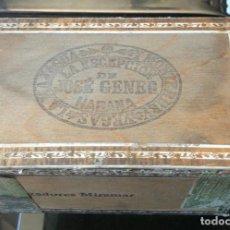 Cajas de Puros: CAJA PUROS HABANOS - LA ESCEPCION JOSE GENER - VACIA - HABANA, CUBA. Lote 288022993