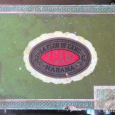 Cajas de Puros: CAJA PUROS HABANOS - LA FLOR DE CANO, J. CANO - VACIA - HABANA, CUBA. Lote 288023188