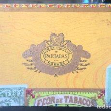Cajas de Puros: CAJA PUROS HABANOS - FLOR DE TABACOS, PARTAGAS Y Cª - VACIA - HABANA, CUBA. Lote 288023423