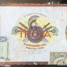 Cajas de Puros: CAJA PUROS HABANOS - TROYA, MARTINEZ Y Cª - VACIA - HABANA, CUBA. Lote 288023548