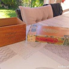 Cajas de Puros: CAJA VACIA 25 DAVIDOFF CHĂTEAU Y ROMEO Y JULIETA ALVAREZ GARCIA. Lote 288325123