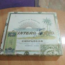 Cajas de Puros: PUROS QUINTERO Y HNO. CIEN FUEGOS 10 CORONAS SELECTAS PRECINTADA HABANA CUBA. Lote 288531583