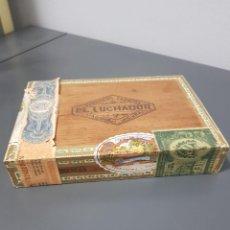 Zigarrenkisten: ANTIGUA CAJA DE PUROS EL LUCHADOR FABRICA DE TABACOS HABANA CUBA FERNANDEZ Y HNOS COMPLETA SIN ABRIR. Lote 288701688