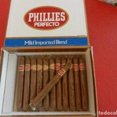 Cajas de Puros: PHILLIES PERFECTO - CAJA DE 50 CIGARS PUROS - CONTIENE 12 PUROS PRECINTADOS.. Lote 289259323