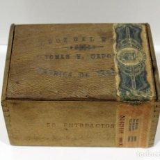 Cajas de Puros: CAJA DE PUROS TOMAS V. CAPOTE - CRUZ DEL MAR - 50 ENTREACTOS.. Lote 289271238