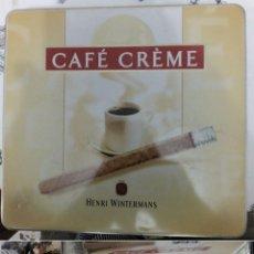 Cajas de Puros: CAJA METALICA TABACO CAFÉ CREME HENRI WINTERMANS MIDE 23/22/5 CM. Lote 289355193