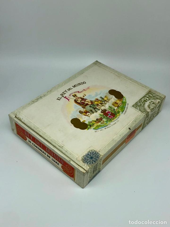 EL REY DEL MUNDO HABANA CUBA 25 CORONAS DE LUXE CAJA CON PUROS PRECINTADA SIN ABRIR (Coleccionismo - Objetos para Fumar - Cajas de Puros)