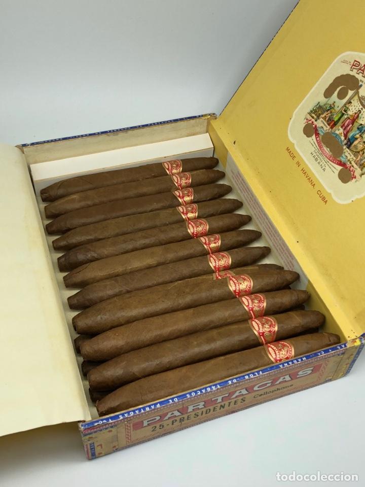 PARTAGAS PRESIDENTES HABANA CUBA 16 PUROS CAJA ABIERTA INCOMPLETA (Coleccionismo - Objetos para Fumar - Cajas de Puros)