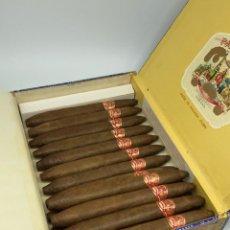 Cajas de Puros: PARTAGAS PRESIDENTES HABANA CUBA 16 PUROS CAJA ABIERTA INCOMPLETA. Lote 292373703