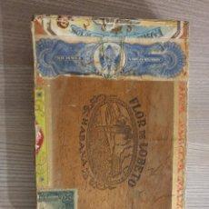 Cajas de Puros: CAJA ANTIGUA , HABANA FLOR DE LOBETO. Lote 293896248