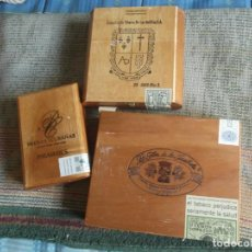 Cajas de Puros: LOTE 3 CAJAS DE PUROS-LEER DESCRIPCION. Lote 294452693