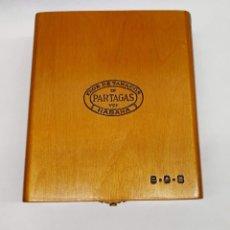 Cajas de Puros: CAJA DE PUROS FLOR DE TABACOS DE PARTAGAS HABANA 8 - 9 -8 CAJA DE MADERA ABIERTA CON 20 PUROS.. Lote 295704413
