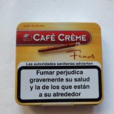 Cajas de Puros: CAFE CREME CAJA METALICA VACÍA FINOS. Lote 297114763
