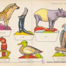 Coleccionismo Recortables: PARQUE ZOOLOGICO. MEDIDA: 29X40 CM. EDICION: TORAY, 1962. Lote 16871458