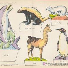 Coleccionismo Recortables: PARQUE ZOOLOGICO. MEDIDA: 29X40 CM. EDICION: TORAY, 1962. Lote 16871465