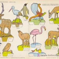 Coleccionismo Recortables: PARQUE ZOOLOGICO. MEDIDA: 29X40 CM. EDICION: TORAY, 1962. Lote 16871441