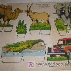Coleccionismo Recortables: RECORTABLE DE ANIMALES. Lote 23402574