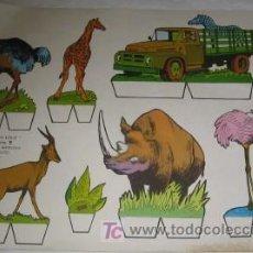 Coleccionismo Recortables: RECORTABLE DE ANIMALES. Lote 23402577