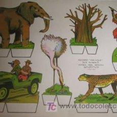 Coleccionismo Recortables: RECORTABLE DE ANIMALES. Lote 23402576