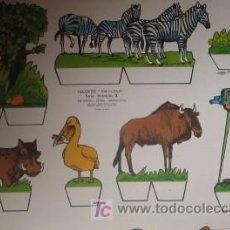 Coleccionismo Recortables: RECORTABLE DE ANIMALES. Lote 23402575