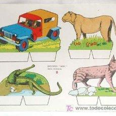 Coleccionismo Recortables: RECORTABLE EDITORIAL ROMA RECORTES BABY SERIE ANIMALES 8 29 CM X 21 CM. Lote 4087014