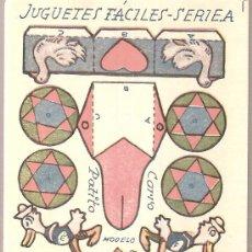 Coleccionismo Recortables: JUGUETES FACILES. SERIE A. CARRO PATITO. 12 X 9 CM.. Lote 4903374