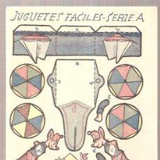 Coleccionismo Recortables: JUGUETES FACILES. SERIE A. CARRITO RATITA. 12 X 9 CM.. Lote 4903415