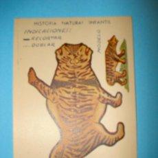 Coleccionismo Recortables: RECORTABLE ANIMALES PLEGABLES - SERIE A - MEDIDAS 12 X 8 CM.. Lote 14153556