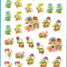 Coleccionismo Recortables: CROMOS TROQUELADOS ADHESIVOS SWEET E SWEET DULCE MALIPIERO DIBUJOS DE BUSQUETS. Lote 27612828