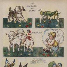 Coleccionismo Recortables: RECORTABLE ZAS (24,5X17,5) EN CARTON.SERIE B. Nº 3. MIS AMIGUITOS DEL CAMPO. Lote 15476544