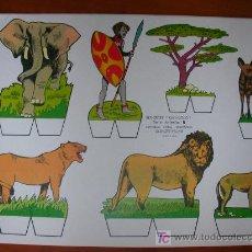 Coleccionismo Recortables: RECORTABLE KIKI-LOLO SERIE ANIMALES Nº 6. ED. ROMA. 1970. ORIGINAL, NO ES COPIA NI REPRODUCCIÓN. Lote 25427099