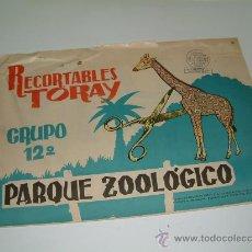 Coleccionismo Recortables: RECORTABLES TORAY. PARQUE ZOOLÓGICO. GRUPO 12º. BLOC 8 LÁMINAS. 1962. Lote 14040466