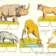 Coleccionismo Recortables: RECORTABLE BABY SERIE ANIMALES Nº 3. Lote 14390779