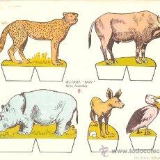 Coleccionismo Recortables: RECORTABLE BABY SERIE ANIMALES Nº 6. Lote 14390968