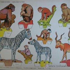 Coleccionismo Recortables: RECORTABLES TORAY - PARQUE ZOOLOGICO Nº 95 - ORIGINAL 1962. Lote 27104195