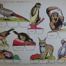 Coleccionismo Recortables: RECORTABLES TORAY - PARQUE ZOOLOGICO Nº 119 - ORIGINAL 1962. Lote 27104192