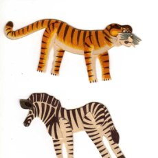 Collectionnisme Images à Découper: 4 ANIMALES DE PAPEL - CARTRÓN DE MONTAJE, AÑOS 30-40. Lote 26750228