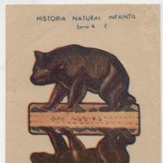 Coleccionismo Recortables: ANIMALES PLEGABLES. OSO. (12X8) HISTORIA NATURAL INFANTIL.. Lote 19839335