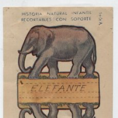 Coleccionismo Recortables: ANIMALES PLEGABLES. ELEFANTE. (12X8) HISTORIA NATURAL INFANTIL.. Lote 19839390