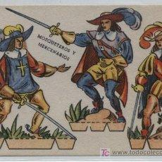 Coleccionismo Recortables: RECORTABLE (11X6). MOSQUETEROS Y MERCENARIOS. AÑO 1960.. Lote 19881262