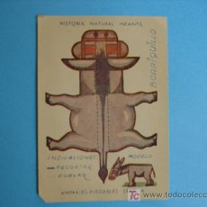 Coleccionismo Recortables: RECORTABLE ANIMALES PLEGABLES - SERIE A - MEDIDAS 12 X 8 CM. Lote 92095600