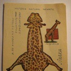 Coleccionismo Recortables: RECORTABLE ANIMALES PLEGABLES - SERIE A - MEDIDAS 12 X 8 CM. Lote 92095669
