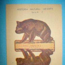 Coleccionismo Recortables: RECORTABLE ANIMALES PLEGABLES - SERIE A - MEDIDAS 12 X 8 CM. Lote 19985342