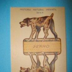 Coleccionismo Recortables: RECORTABLE ANIMALES PLEGABLES - SERIE A - MEDIDAS 12 X 8 CM. Lote 19985371
