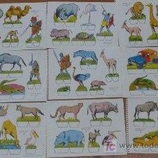 Coleccionismo Recortables: LOTE DE 9 RECORTABLES BABY. SERIE ANIMALES. EDITORIAL ROMA. COLECCION ENTERA.. Lote 25733799