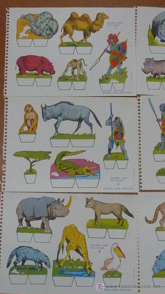 Coleccionismo Recortables: Lote de 9 recortables Baby. Serie Animales. Editorial Roma. Coleccion entera. - Foto 2 - 25733799
