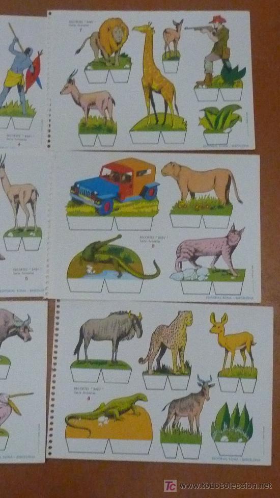 Coleccionismo Recortables: Lote de 9 recortables Baby. Serie Animales. Editorial Roma. Coleccion entera. - Foto 4 - 25733799